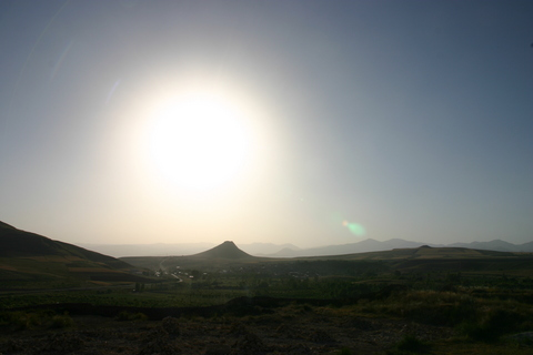Trip report: Iran 2013. View from Takht-e-Soleyman - Motomorgana, nomads riding around the world on a motorbike adventure.