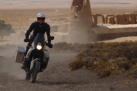 Trip report: Iran 2013. Piste near Khomeyn - Motomorgana, nomads riding around the world on a motorbike adventure.
