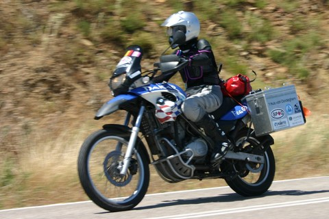 Trip report: Middle East 2009. Caro in the Peloponnesos - Motomorgana, nomads riding around the world on a motorbike adventure.
