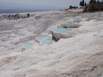 Trip report: Middle East 2009. Pammukale - Motomorgana, nomads riding around the world on a motorbike adventure.